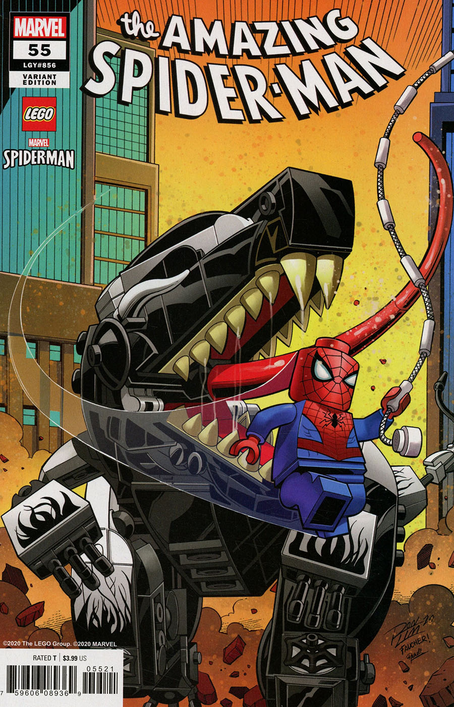 Amazing Spider-Man Vol 5 #55 Cover B Variant Ron Lim LEGO Cover