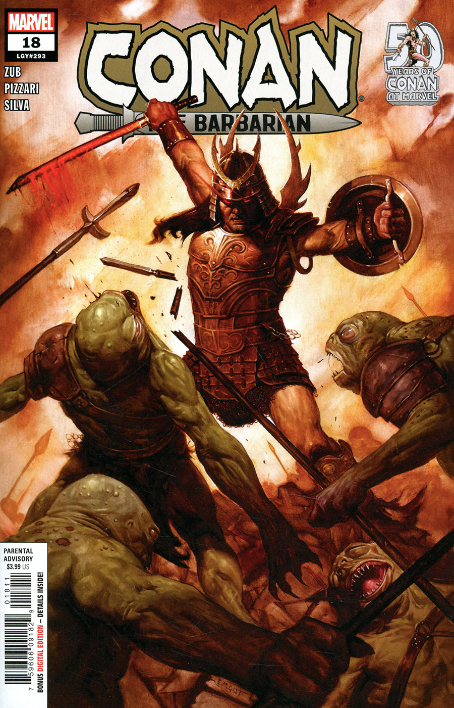 Conan The Barbarian Vol 4 #18 Cover A Regular EM Gist Cover