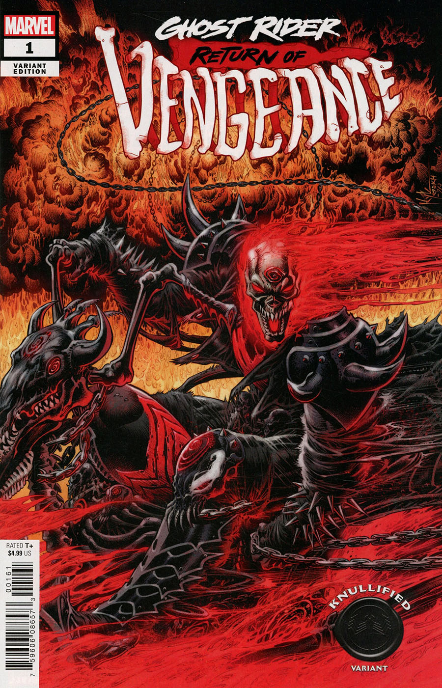 Ghost Rider Return Of Vengeance One Shot Cover B Variant Kyle Hotz Knullified Cover