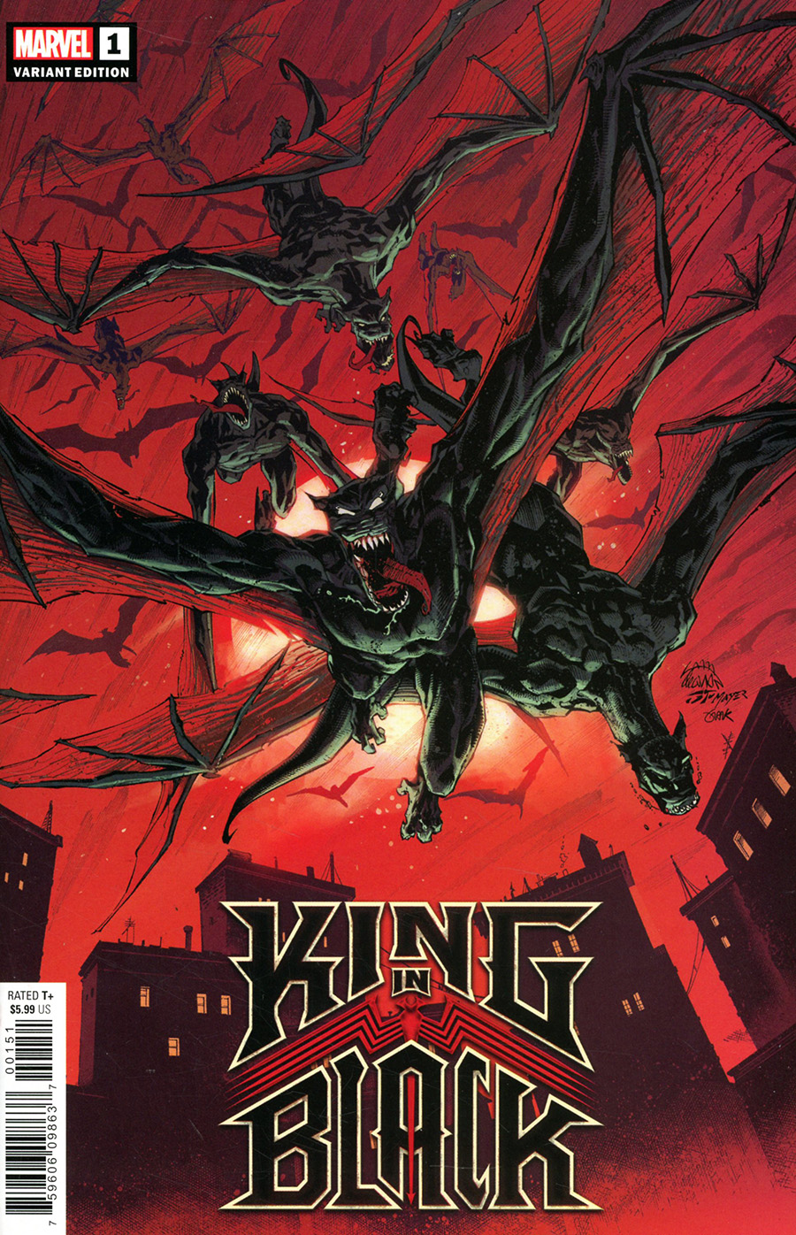 King In Black #1 Cover D Variant Ryan Stegman Darkness Reigns Cover