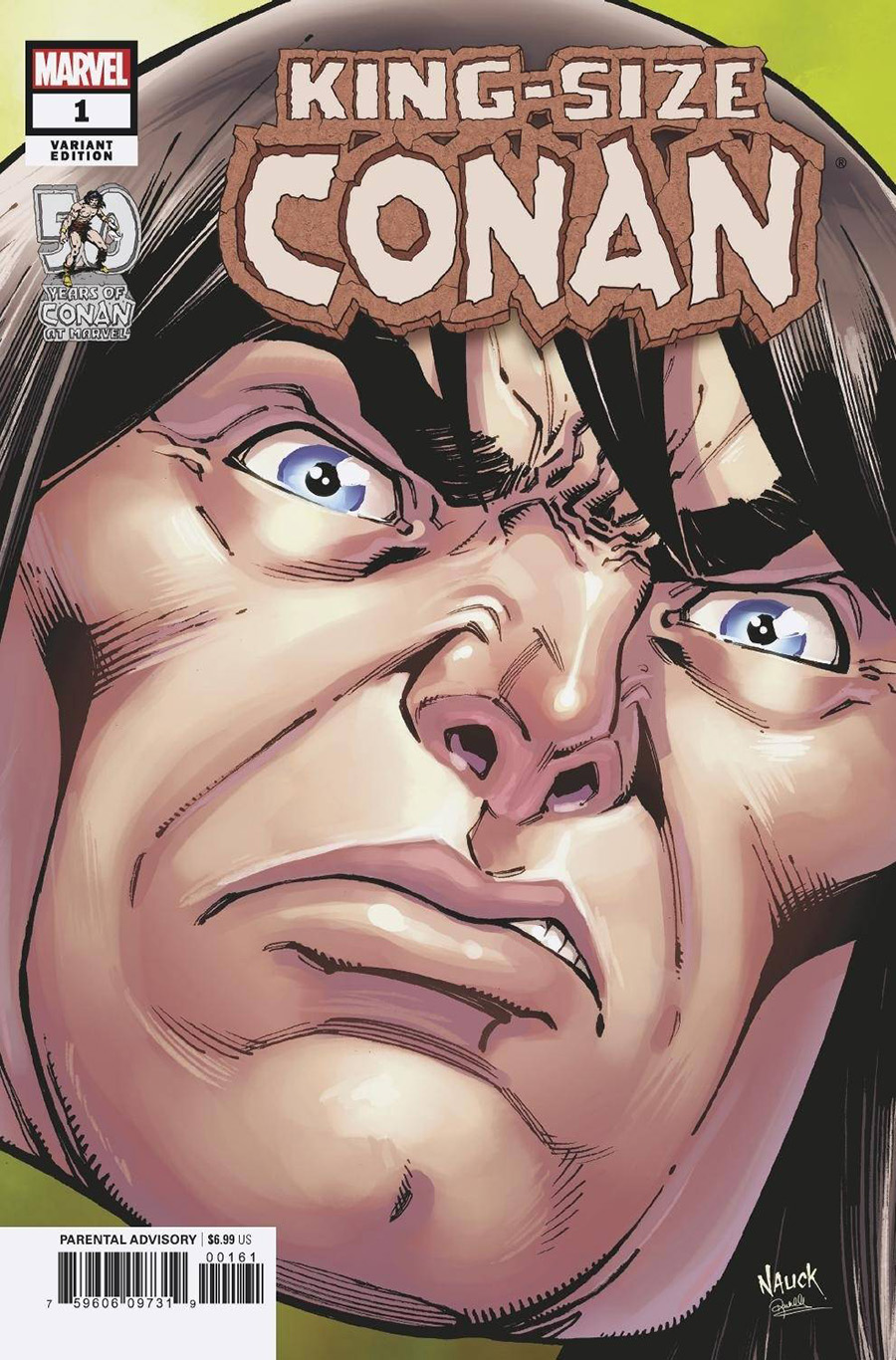 King-Size Conan One Shot Cover C Variant Todd Nauck Headshot Cover