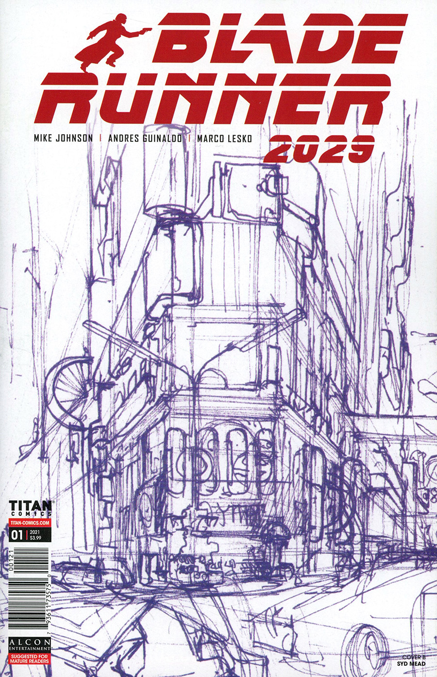Blade Runner 2029 #1 Cover B Variant Syd Mead Cover