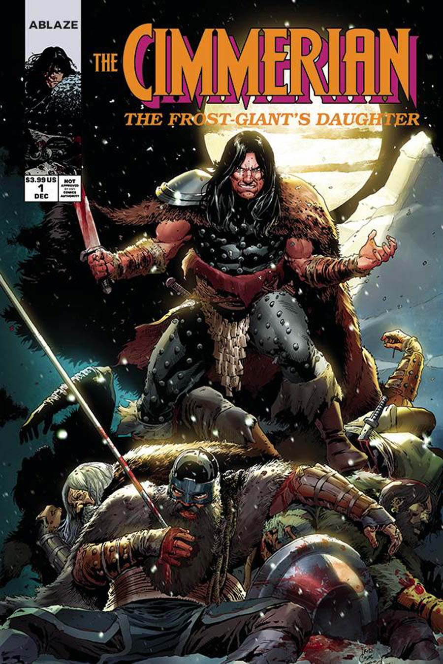 Cimmerian Frost-Giants Daughter #1 Cover E Variant Fritz Casas Wolverine 1 Parody Cover