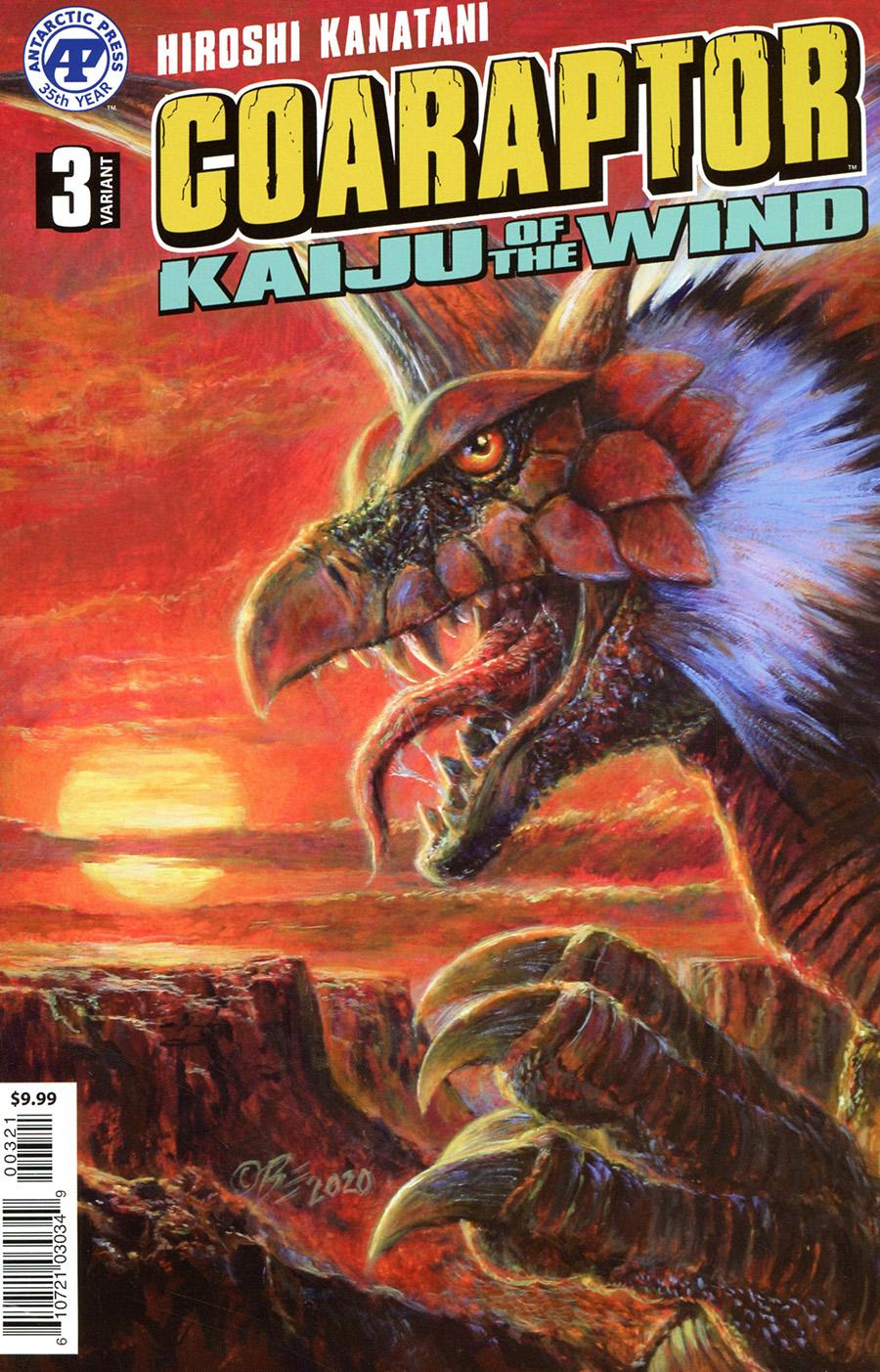 Coaraptor #3 Kaiju Of The Wind Cover B Variant Bob Eggleton Cover