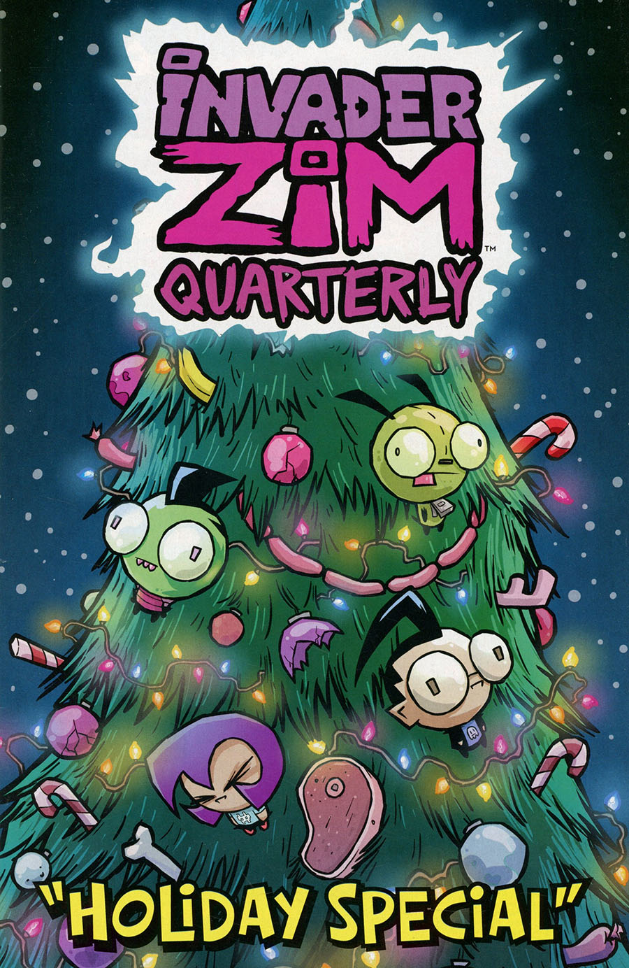 Invader Zim Quarterly #3 Holiday Special Cover B Variant Warren Wucinich Cover