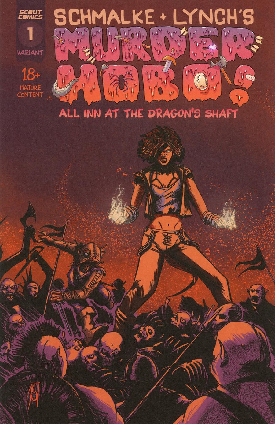 Murder Hobo All Inn At The Dragons Shaft #1 Cover B Variant Joseph Schmalke Cover