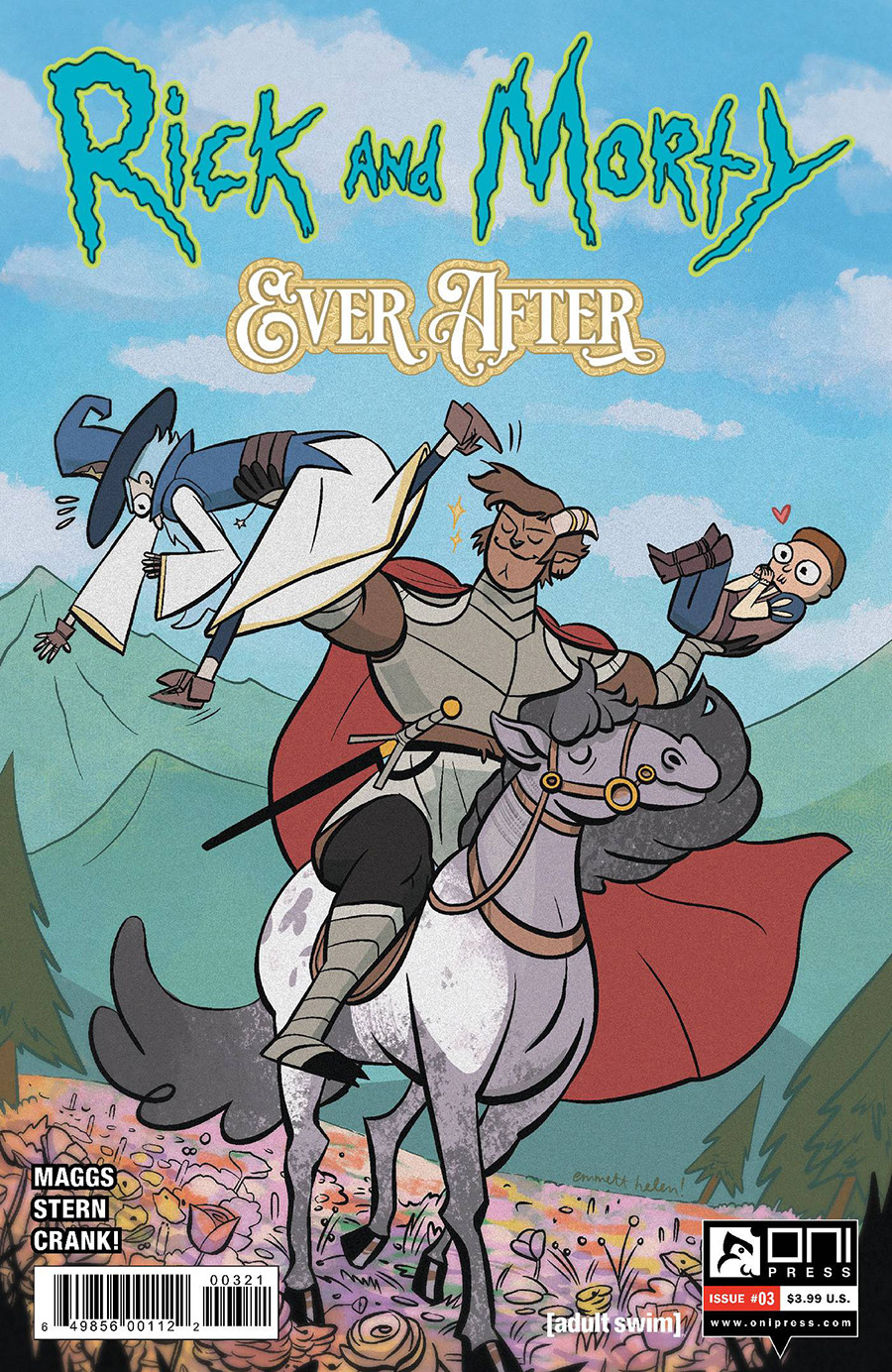 Rick And Morty Ever After #3 Cover B Variant Emmett Helen Cover