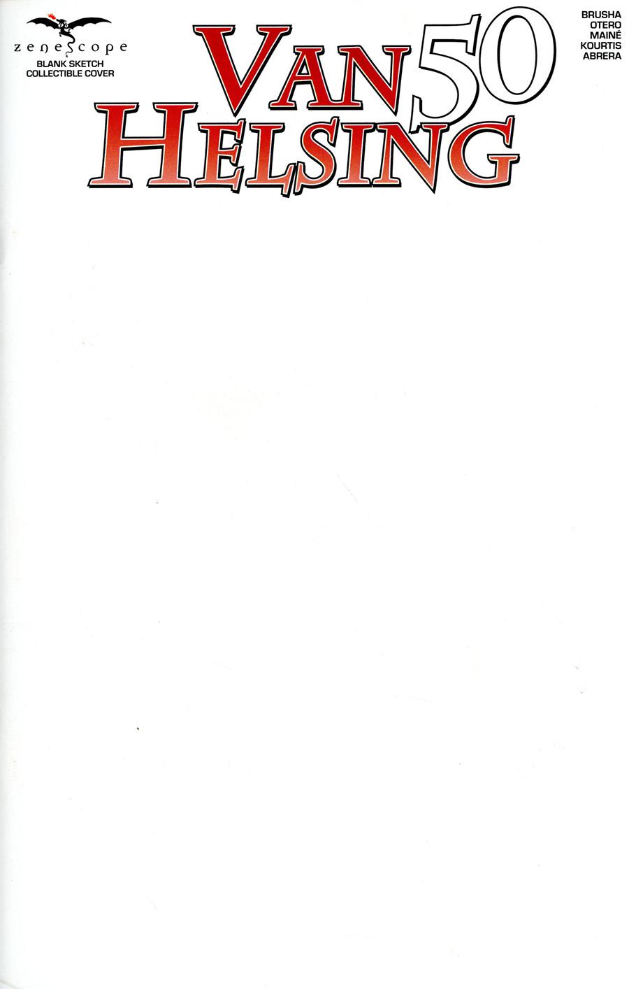 Grimm Fairy Tales Presents Van Helsing #50 Cover F Blank