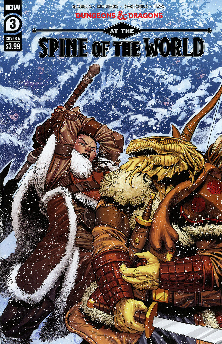 Dungeons & Dragons At The Spine Of The World #3 Cover A Regular Martin Coccolo Cover