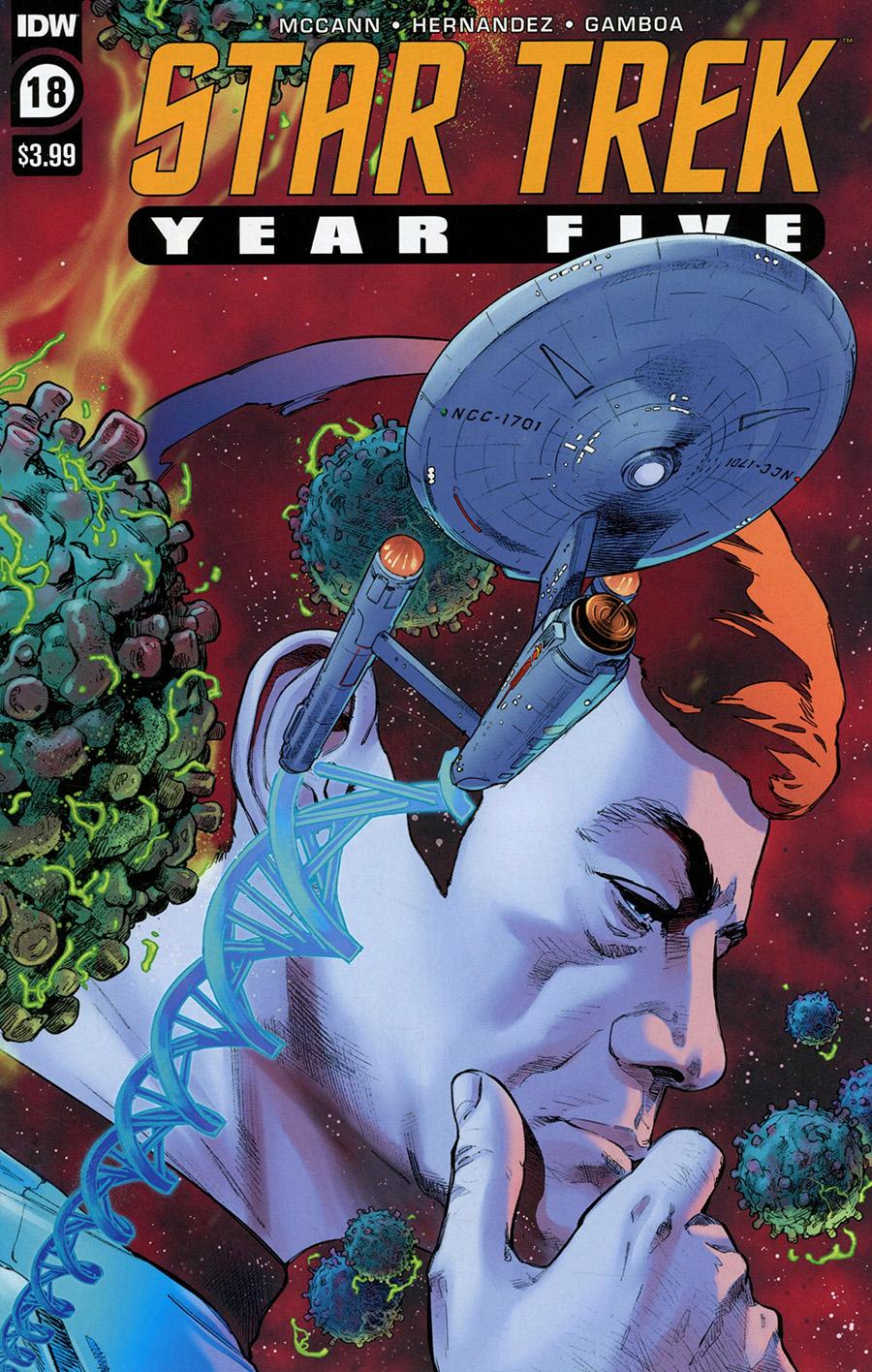 Star Trek Year Five #18 Cover A Regular Stephen Thompson Cover