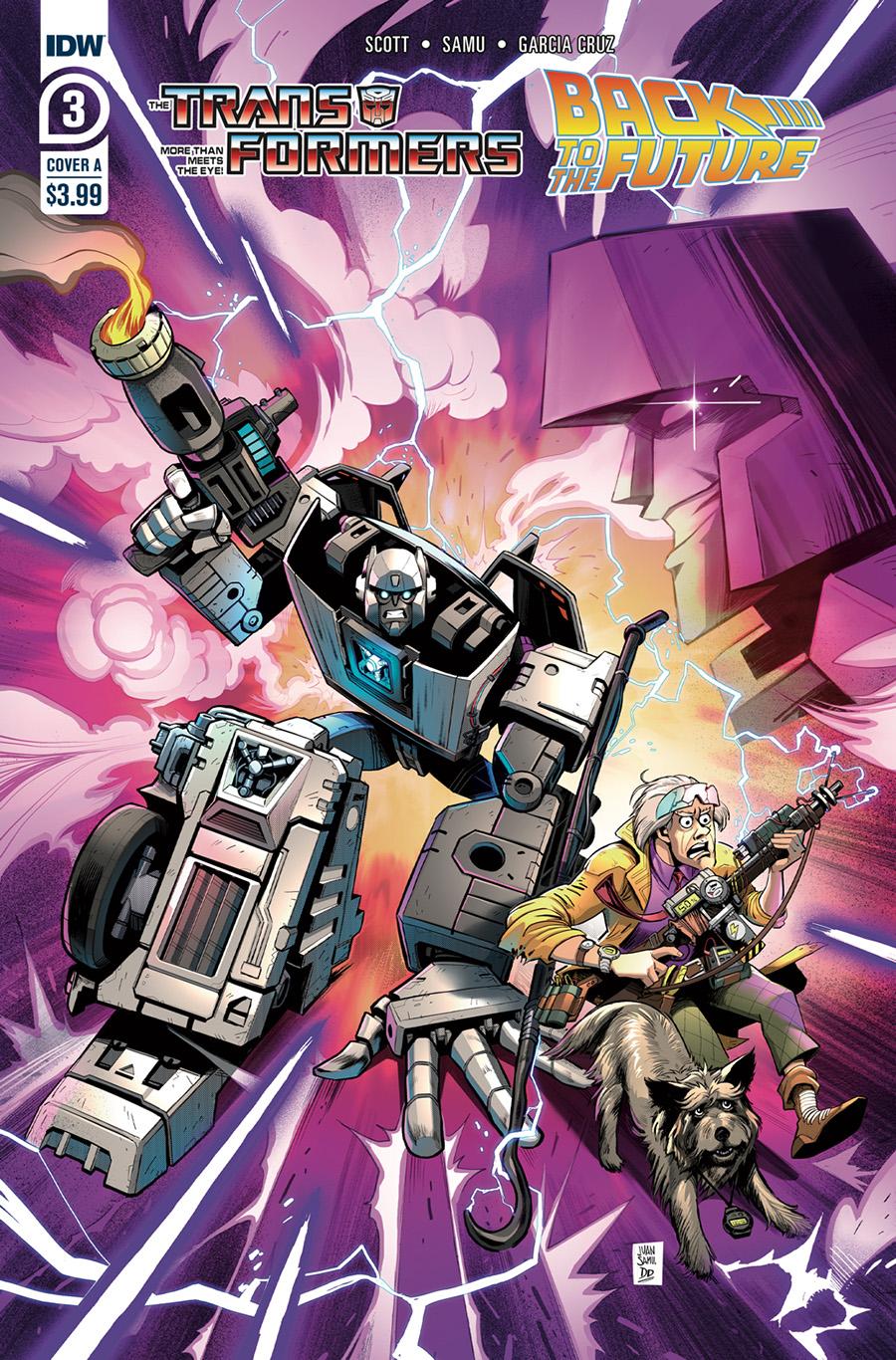 Transformers Back To The Future #3 Cover A Regular Juan Samu Cover