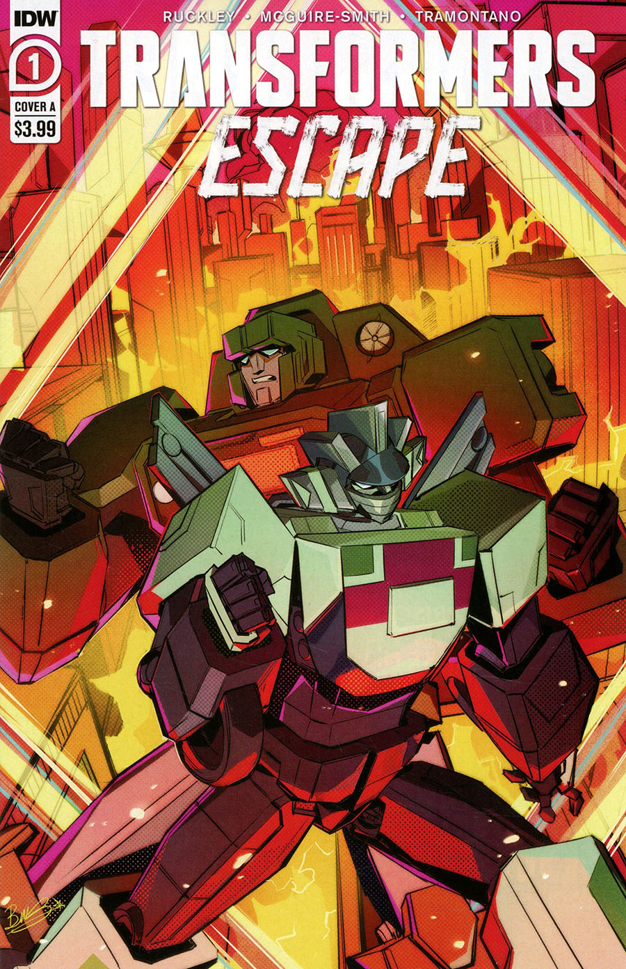 Transformers Escape #1 Cover A Regular Bethany McGuire-Smith Cover