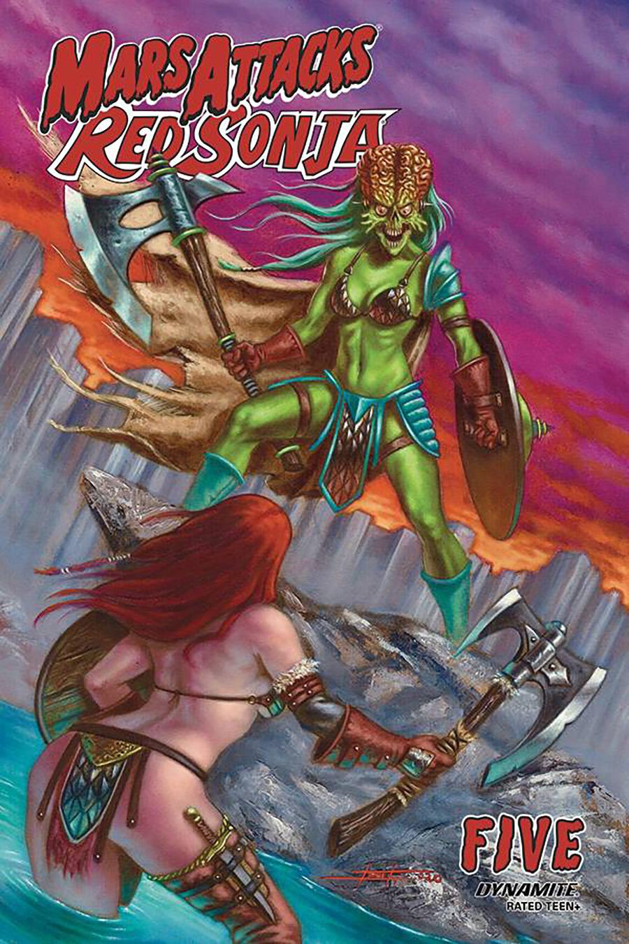 Mars Attacks Red Sonja #5 Cover B Variant Luca Strati Cover