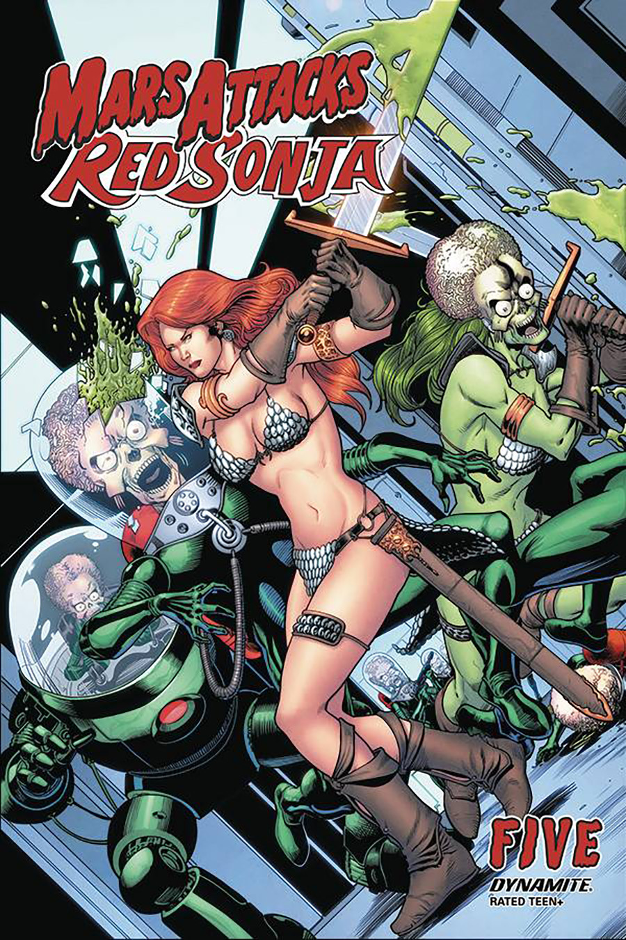 Mars Attacks Red Sonja #5 Cover C Variant Barry Kitson Cover