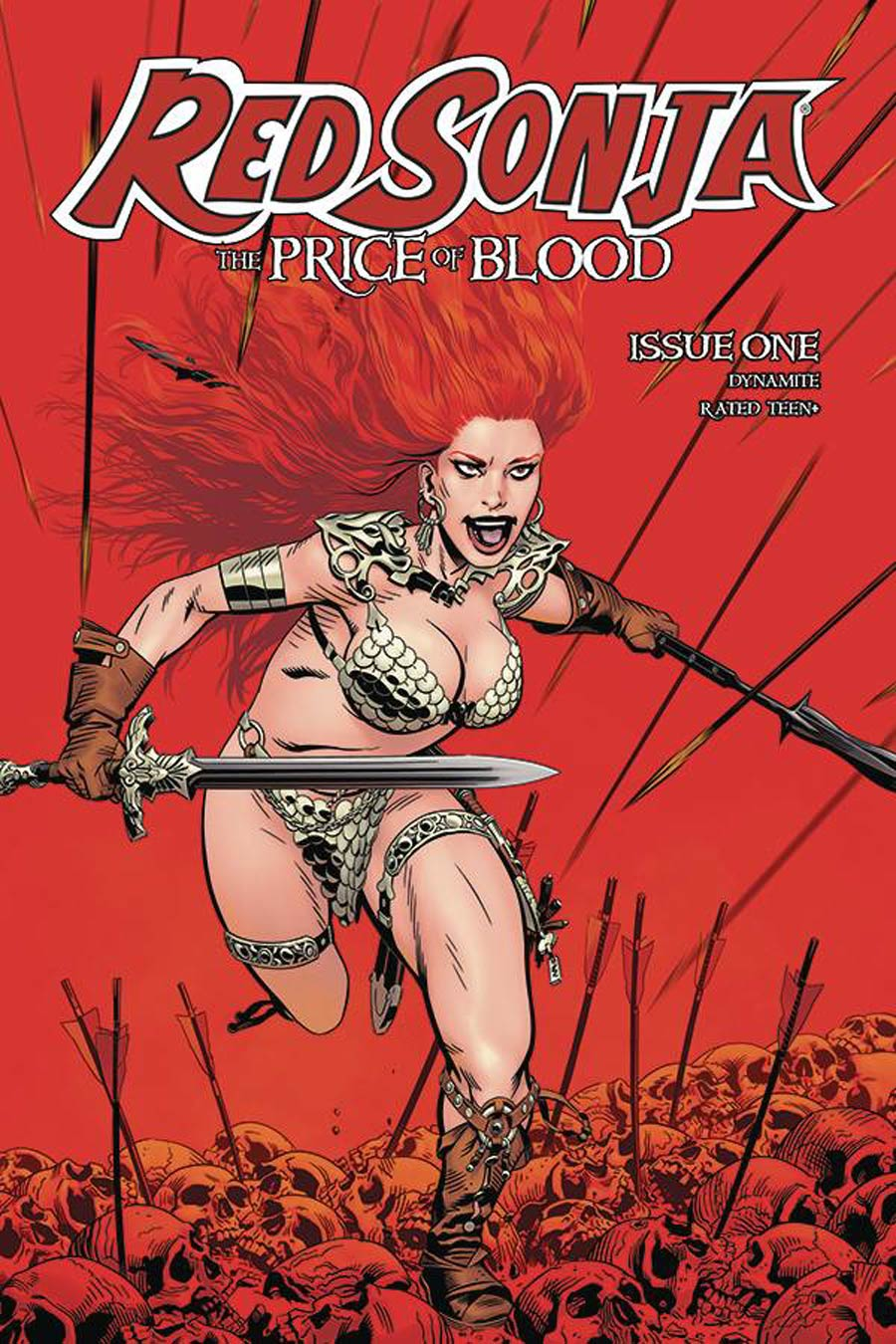 Red Sonja Price Of Blood #1 Cover B Variant Michael Golden Cover