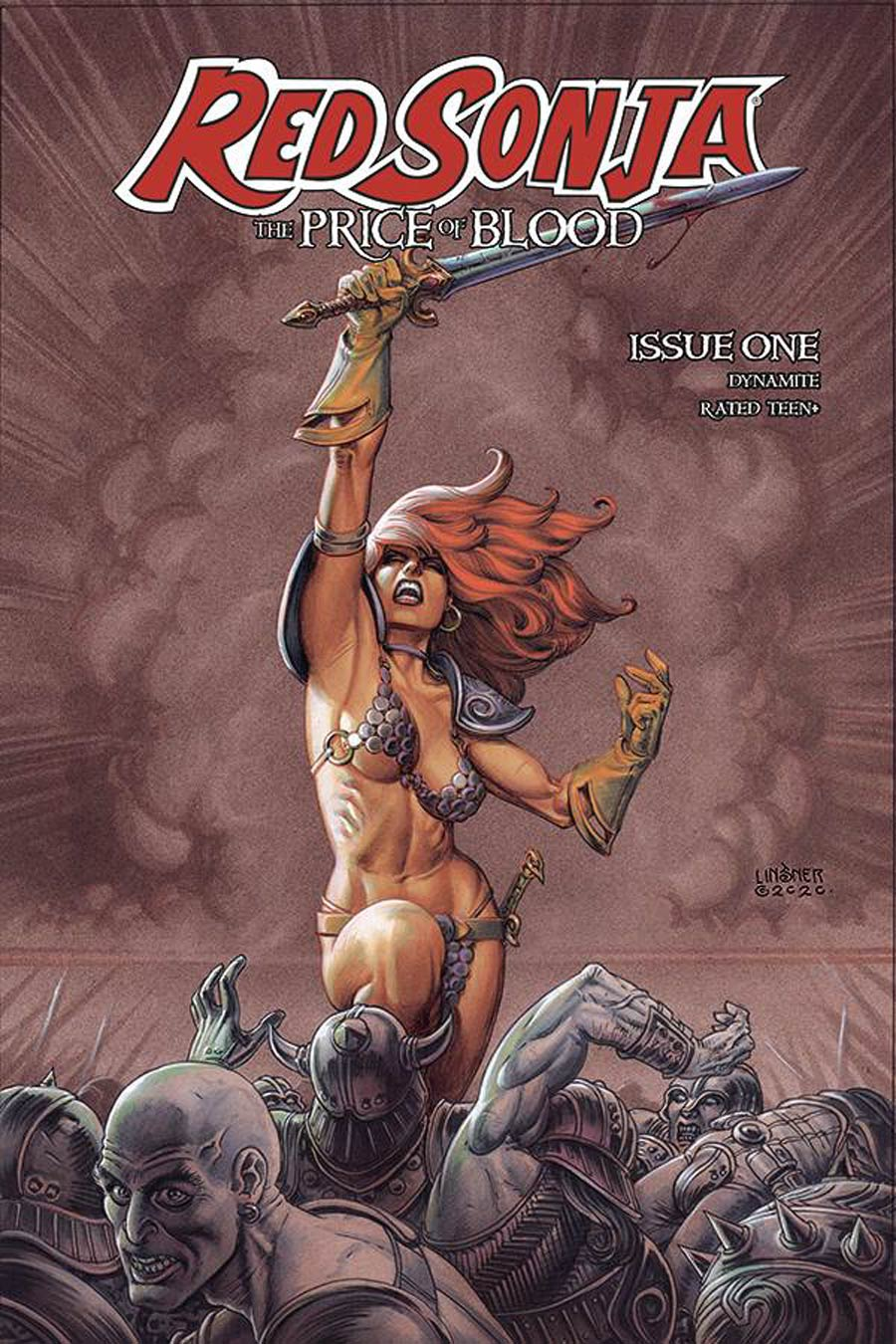 Red Sonja Price Of Blood #1 Cover C Variant Joseph Michael Linsner Cover