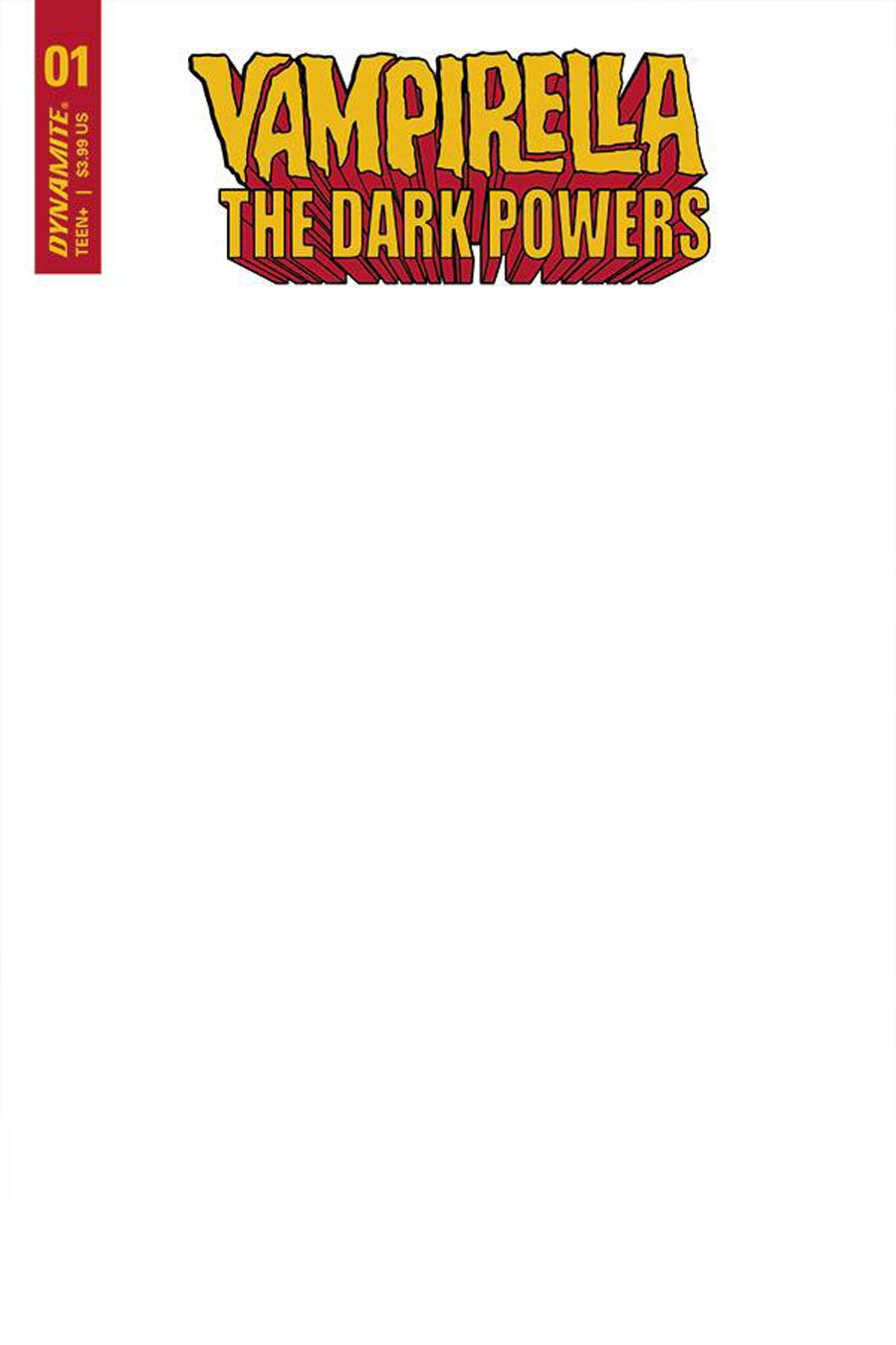 Vampirella The Dark Powers #1 Cover F Variant Blank Authentix Cover