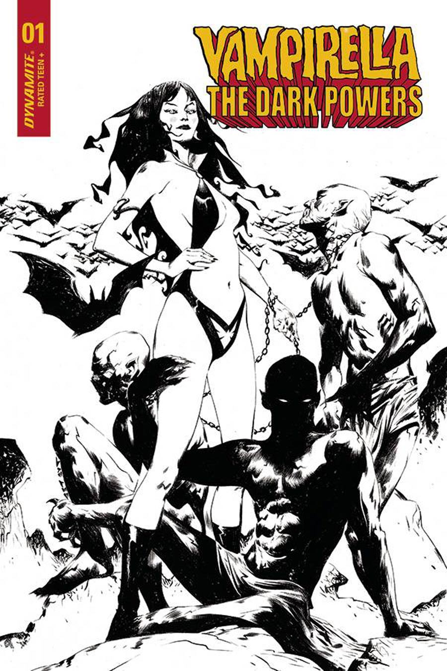 Vampirella The Dark Powers #1 Cover V Incentive Jae Lee Vampirellas Demons Black & White Cover