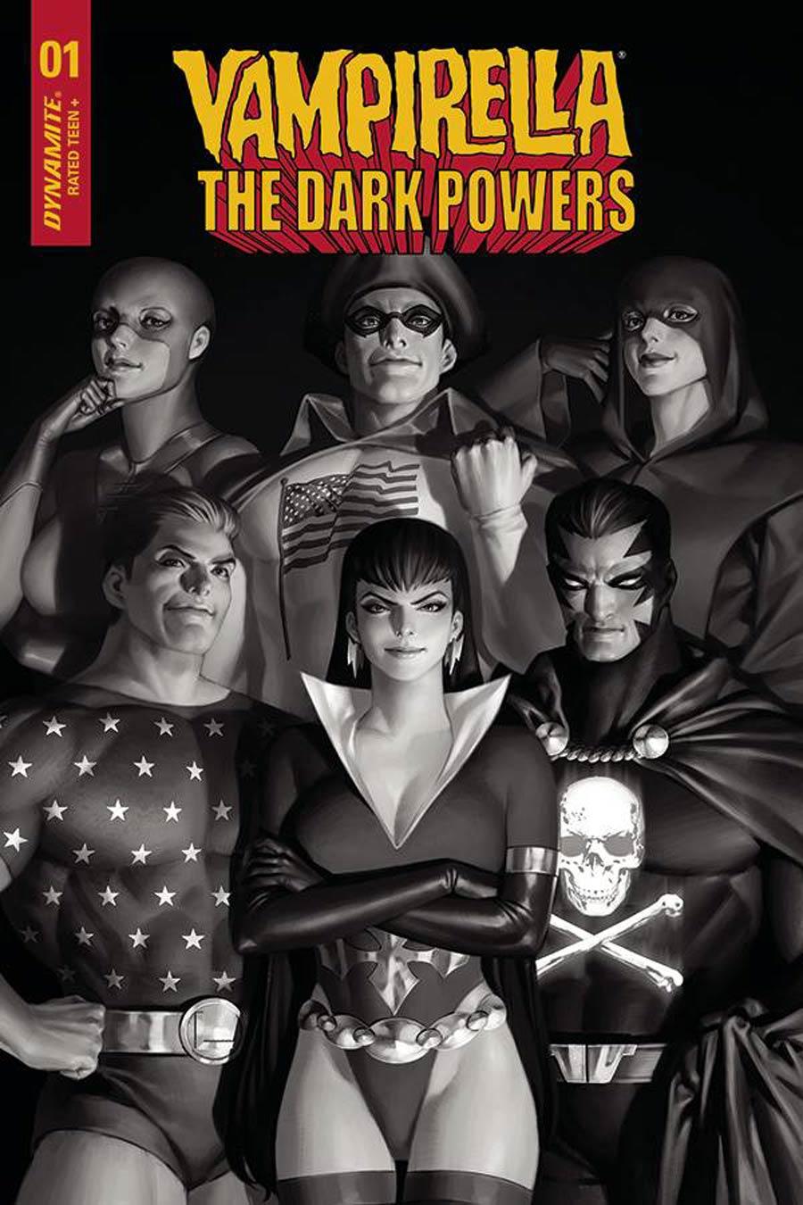 Vampirella The Dark Powers #1 Cover Y Incentive Junggeun Yoon Black & White Cover
