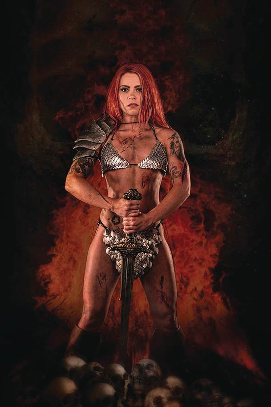 Red Sonja Price Of Blood #1 Cover I Incentive Angel Ray Cosplay Photo Virgin Cover