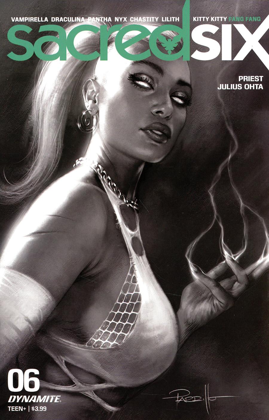 Sacred Six #6 Cover O Incentive Lucio Parrillo Black & White Cover