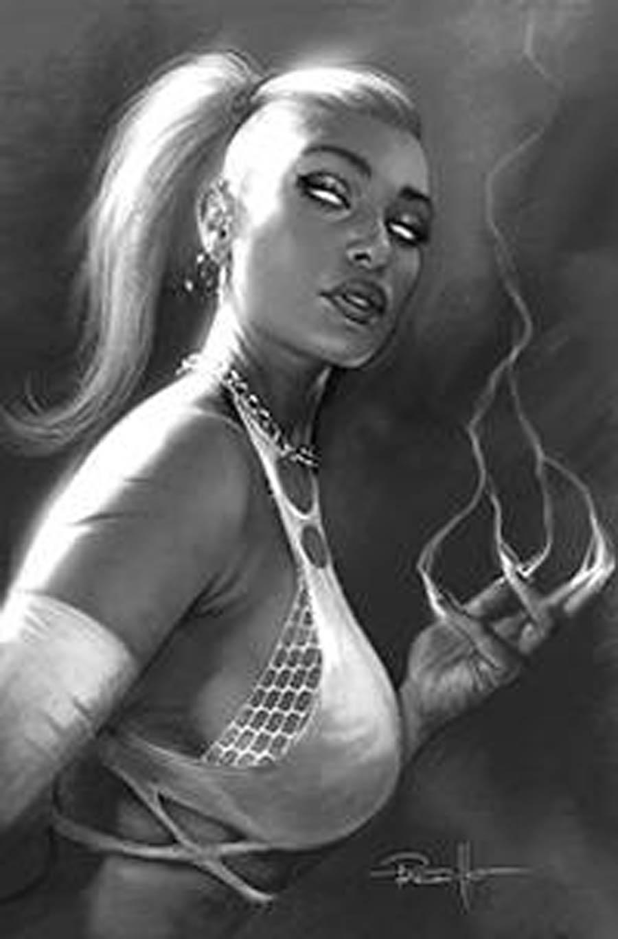 Sacred Six #6 Cover Q Incentive Lucio Parrillo Black & White Virgin Cover