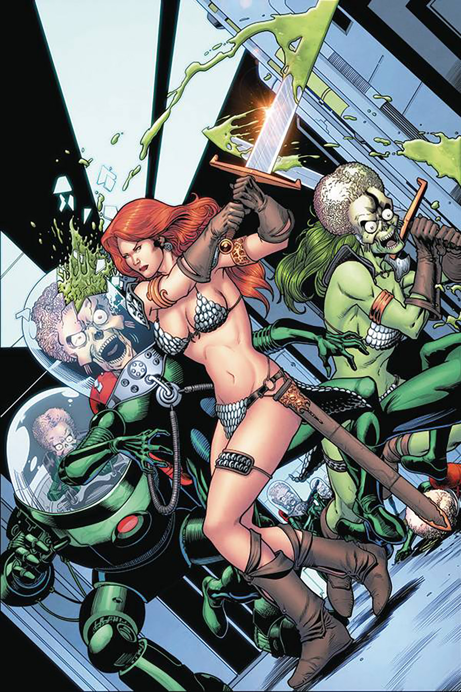 Mars Attacks Red Sonja #5 Cover H Incentive Barry Kitson Virgin Cover
