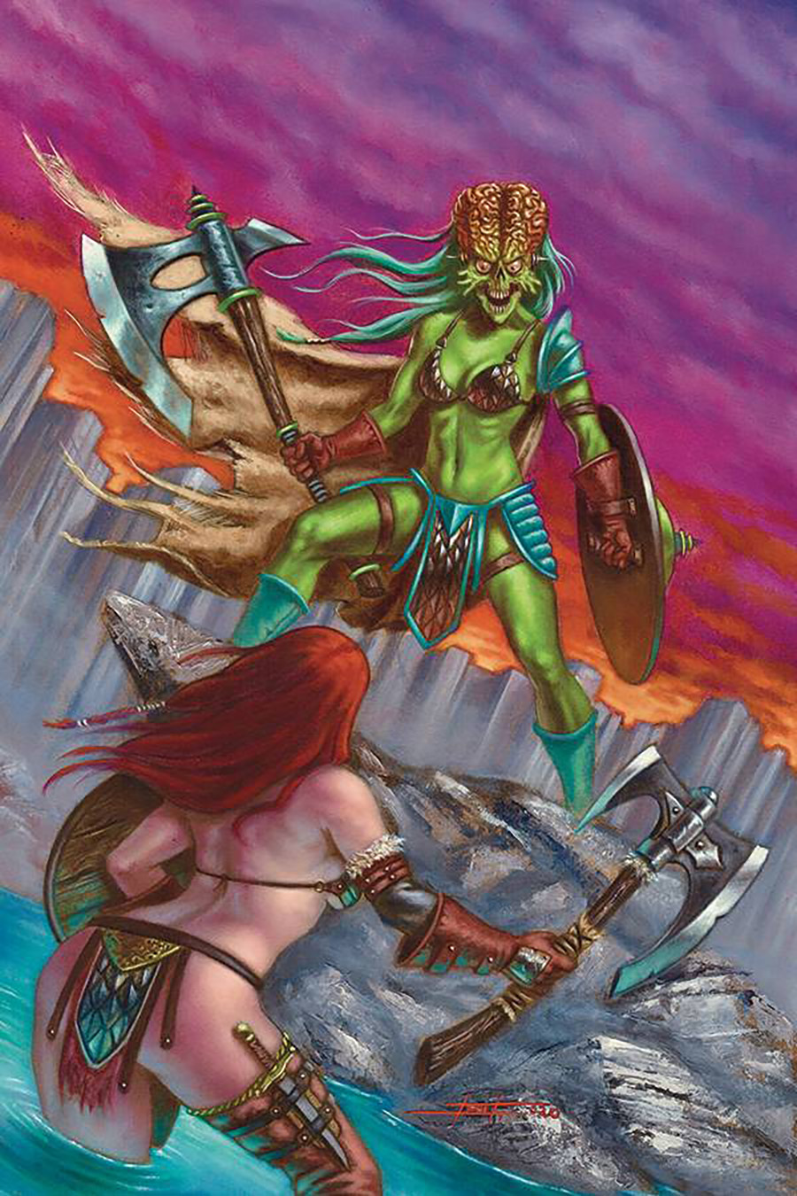 Mars Attacks Red Sonja #5 Cover K Incentive Luca Strati Virgin Cover