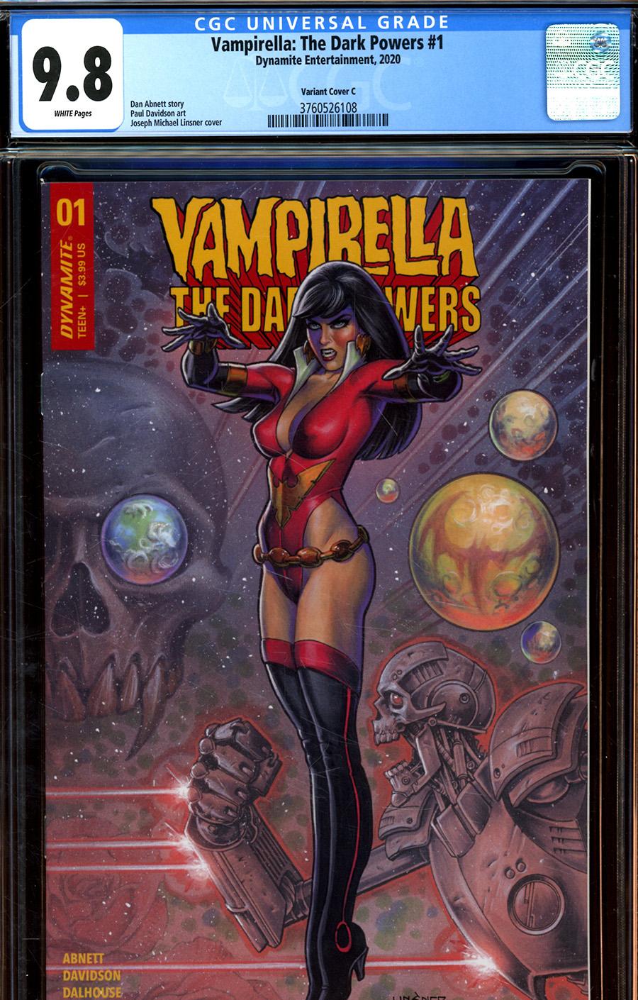 Vampirella The Dark Powers #1 Cover Z-L Variant Joseph Michael Linsner Cover CGC Graded