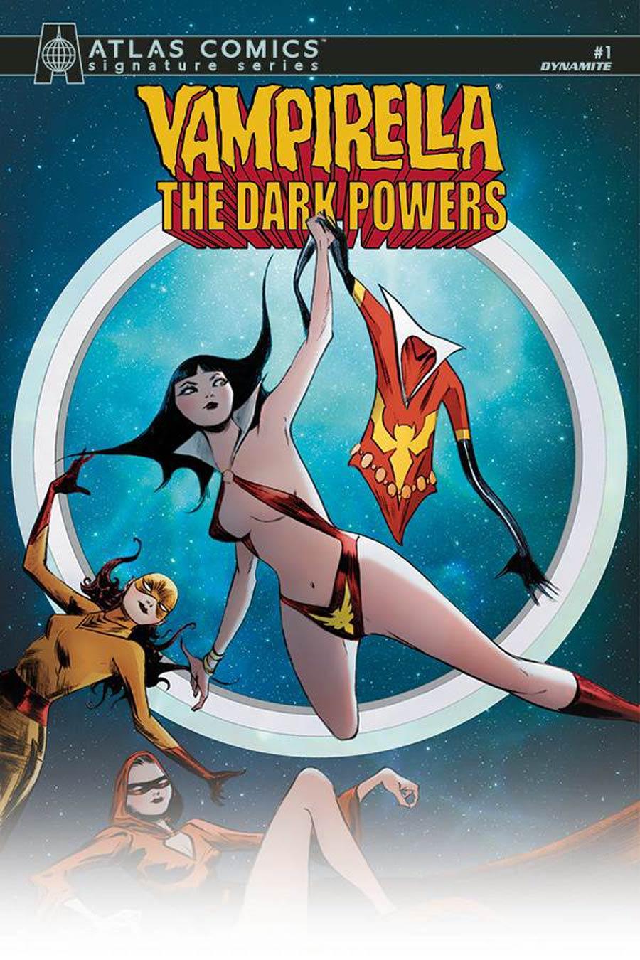 Vampirella The Dark Powers #1 Cover Z-E Atlas Comics Signature Series Signed By Jae Lee