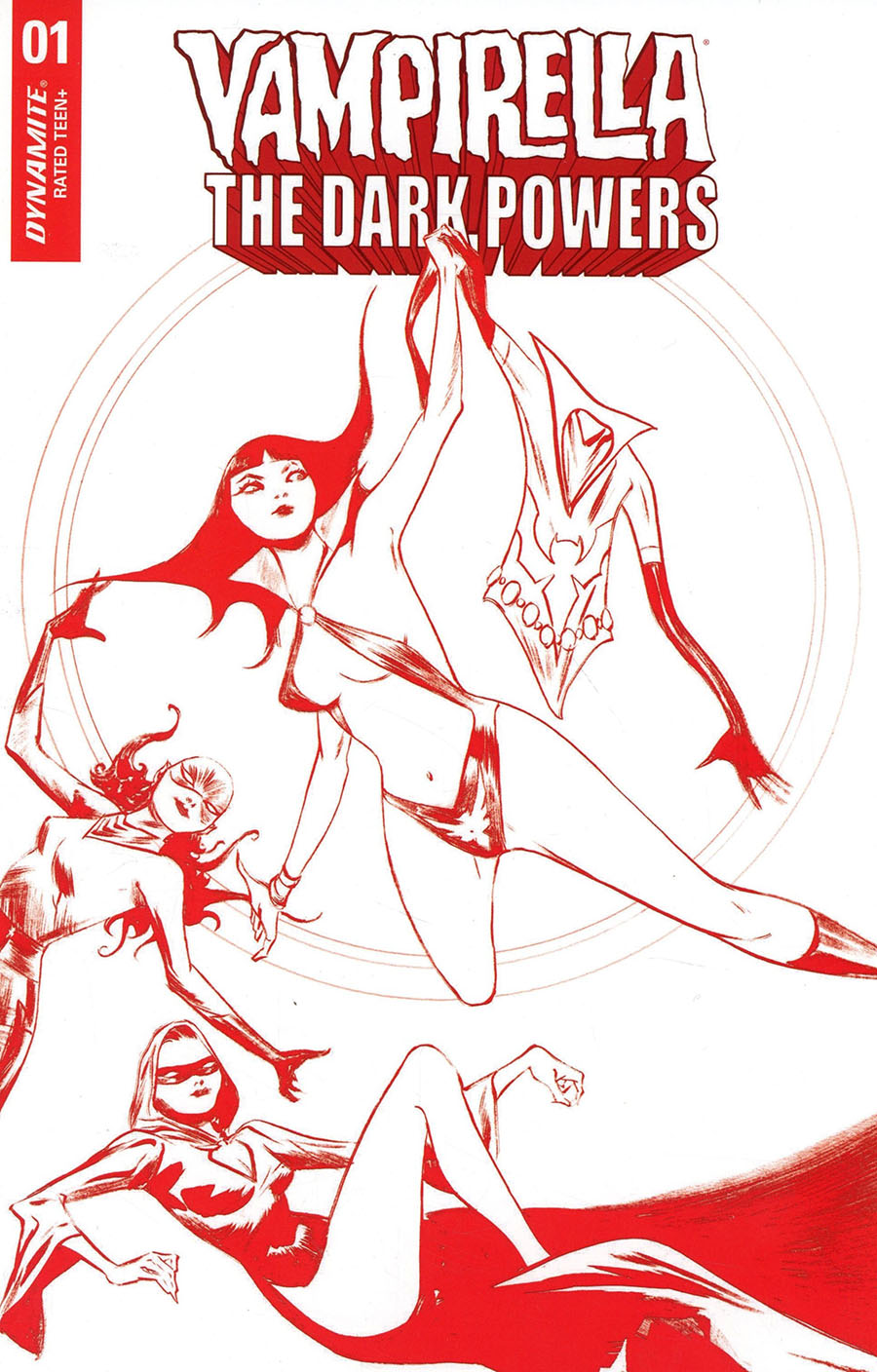 Vampirella The Dark Powers #1 Cover Z-H Ultra-Premium Limited Edition Jae Lee Crimson Red Line Art Cover