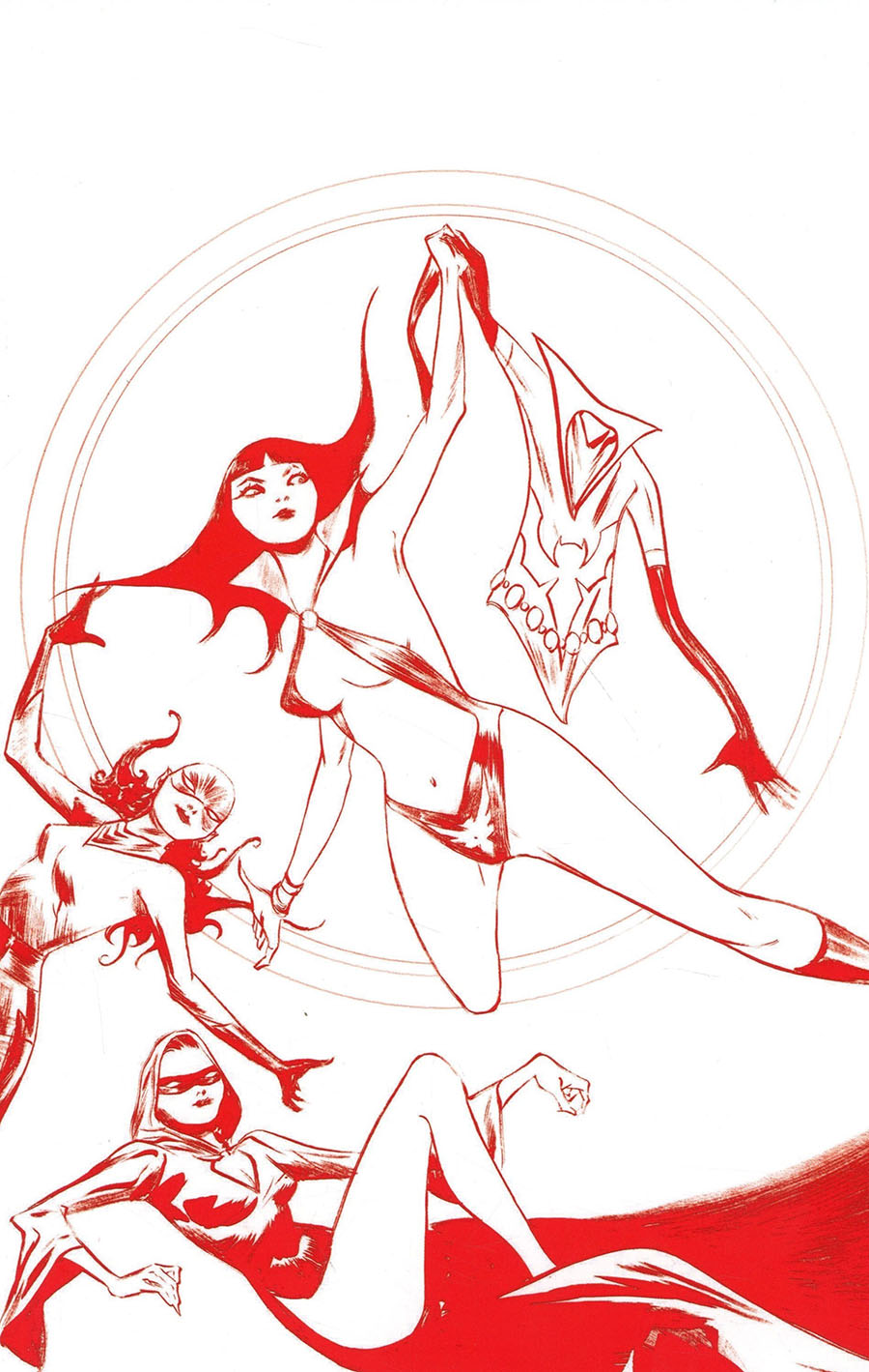 Vampirella The Dark Powers #1 Cover Z-I Ultra-Premium Limited Edition Jae Lee Crimson Red Line Art Virgin Cover