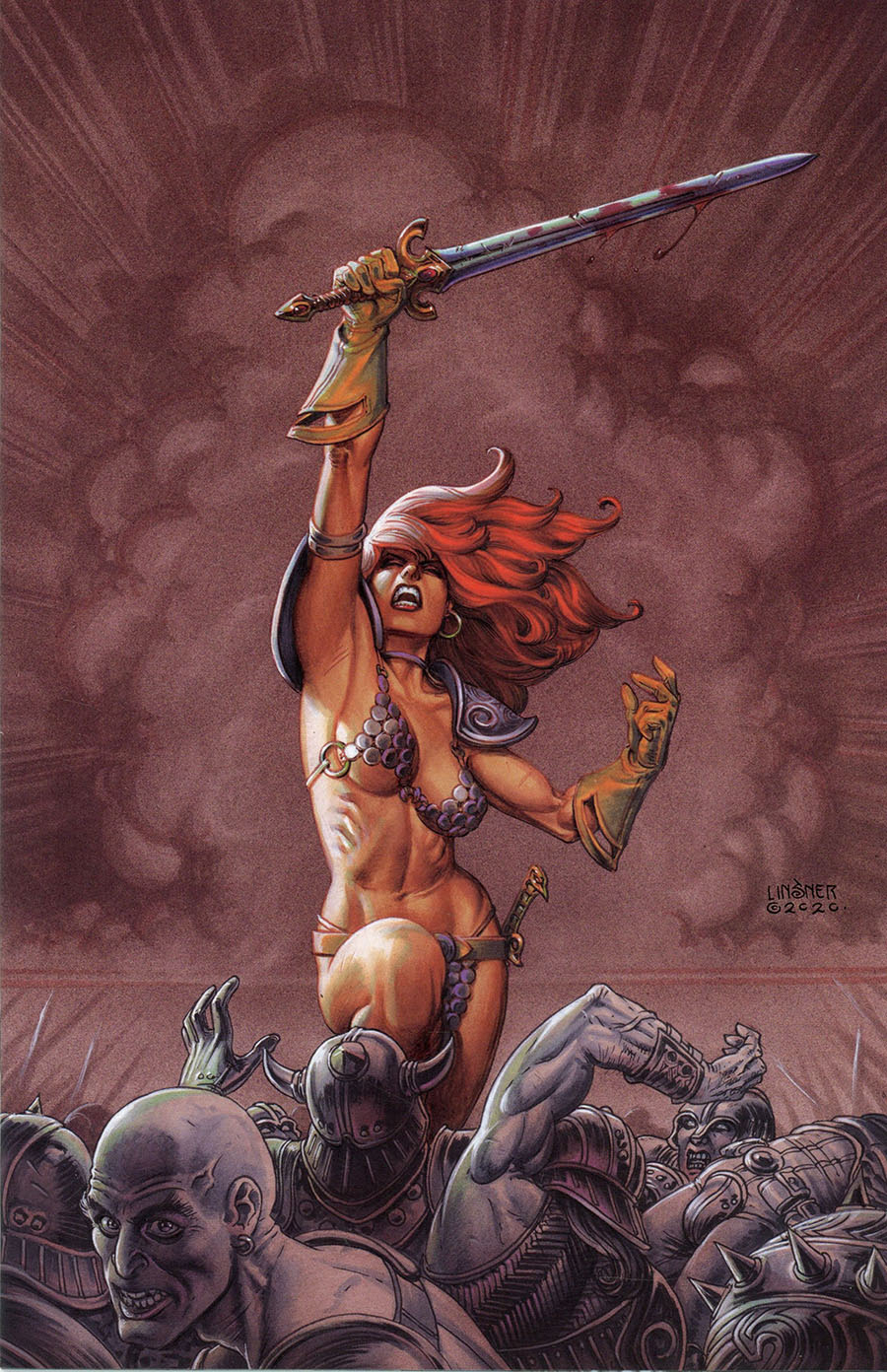 Red Sonja Price Of Blood #1 Cover Q Limited Edition Joseph Michael Linsner Virgin Cover