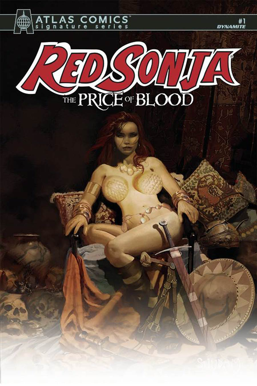 Red Sonja Price Of Blood #1 Cover S Atlas Comics Signature Series Signed By Luke Lieberman