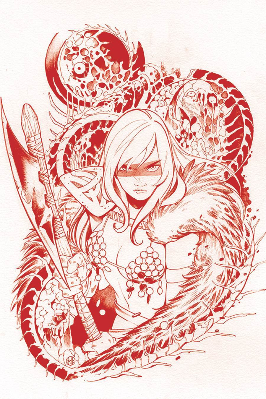 DieNamite #1 Cover Z-C Ultra-Premium Limited Edition Peach Momoko Red Sonja Crimson Red Line Art Virgin Cover