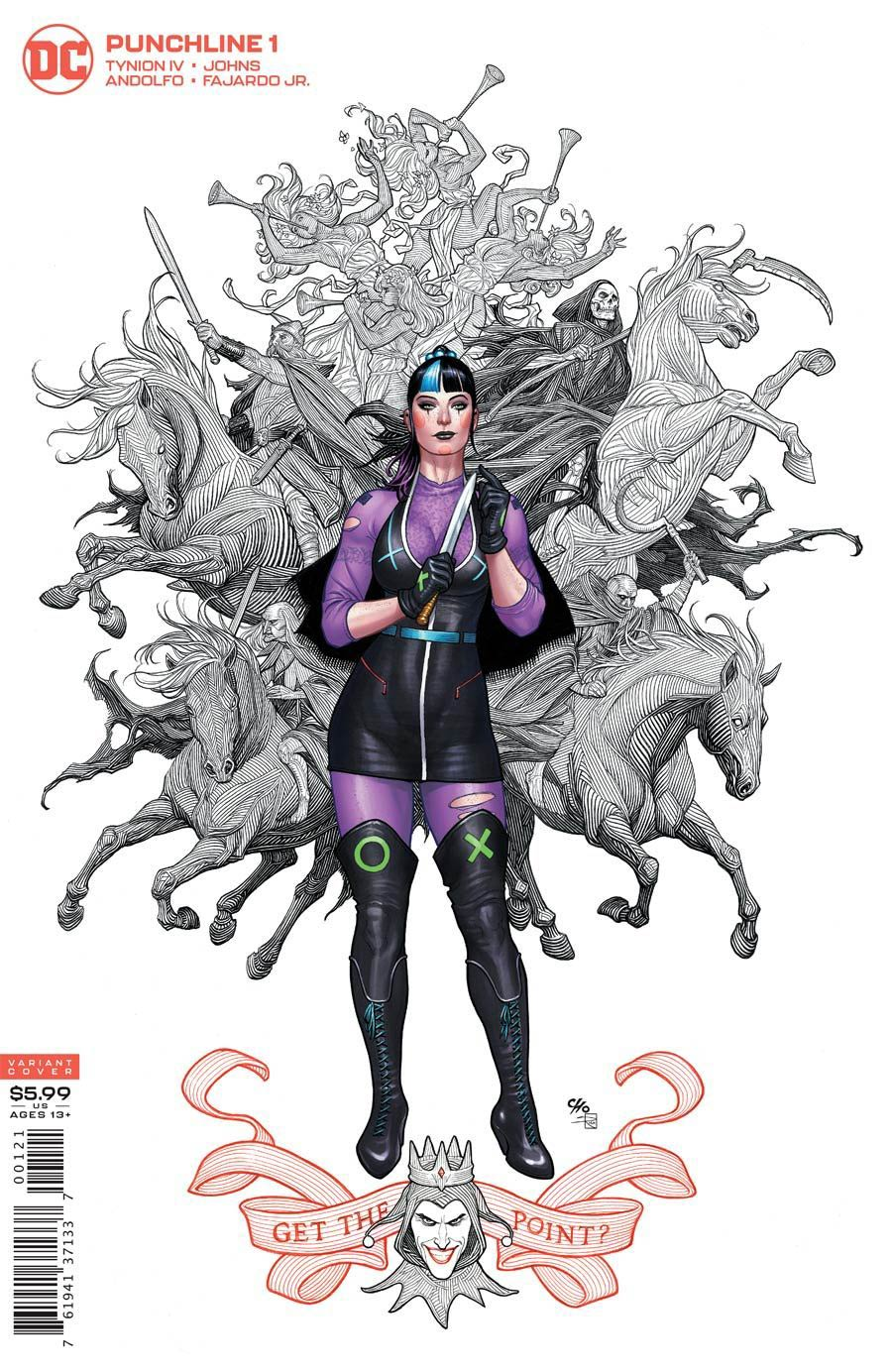 Punchline Special One Shot Cover I DF Frank Cho Cover Signed By James Tynion IV