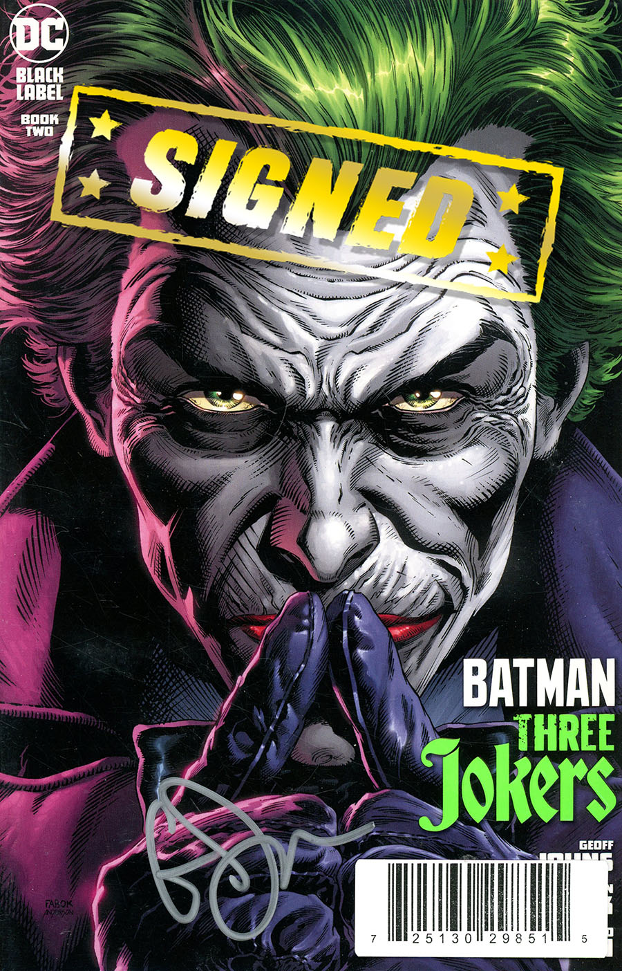 Batman Three Jokers #2 Cover E DF Signed By Geoff Johns