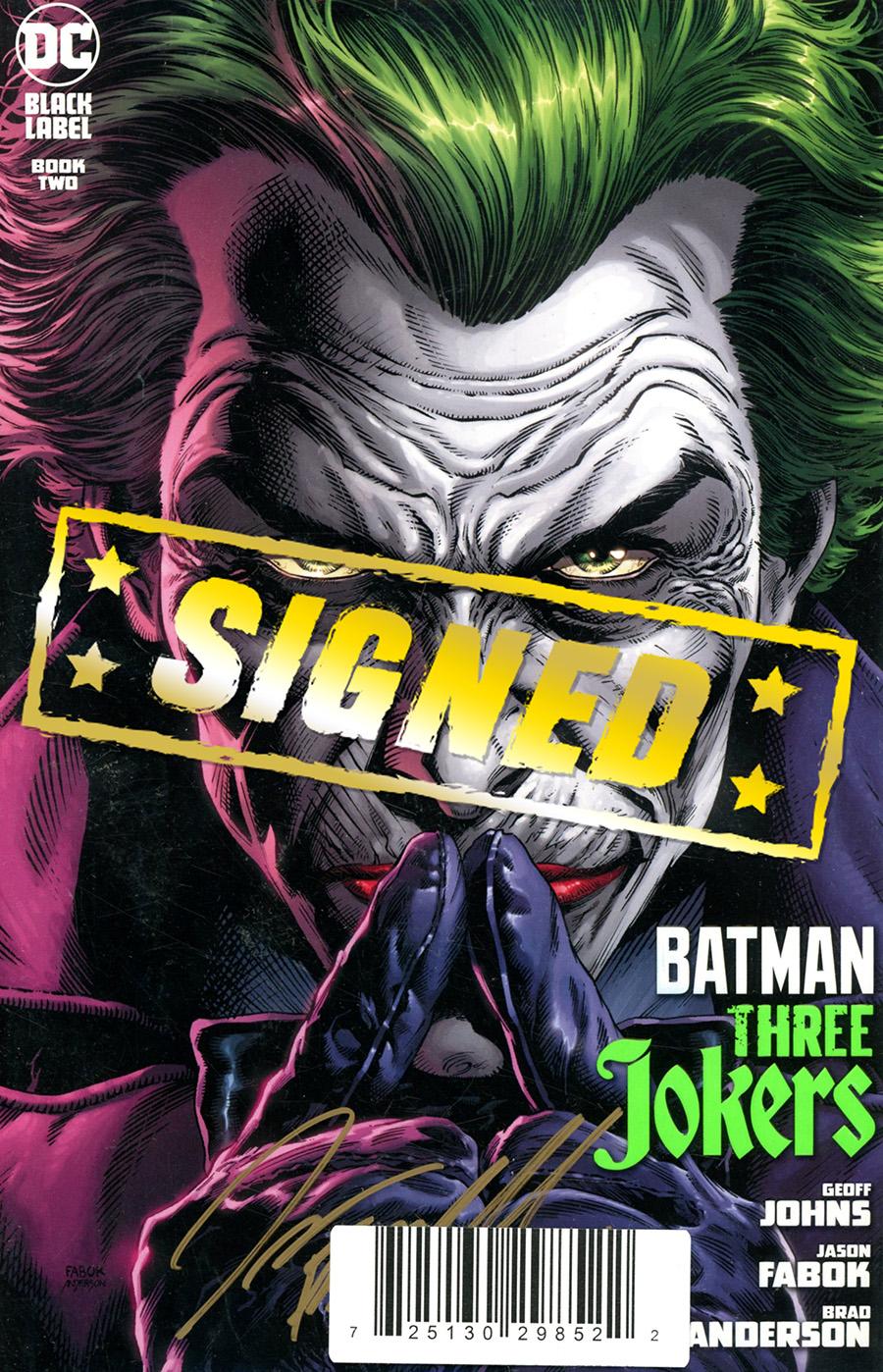 Batman Three Jokers #2 Cover F DF Signed By Jason Fabok
