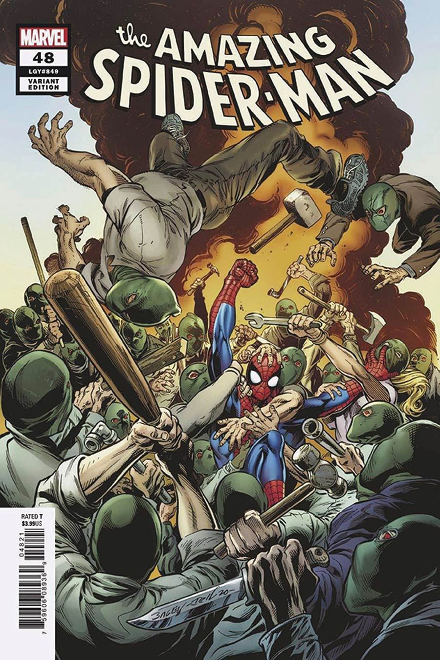 Amazing Spider-Man Vol 5 #48 Cover E DF Signed By Mark Bagley