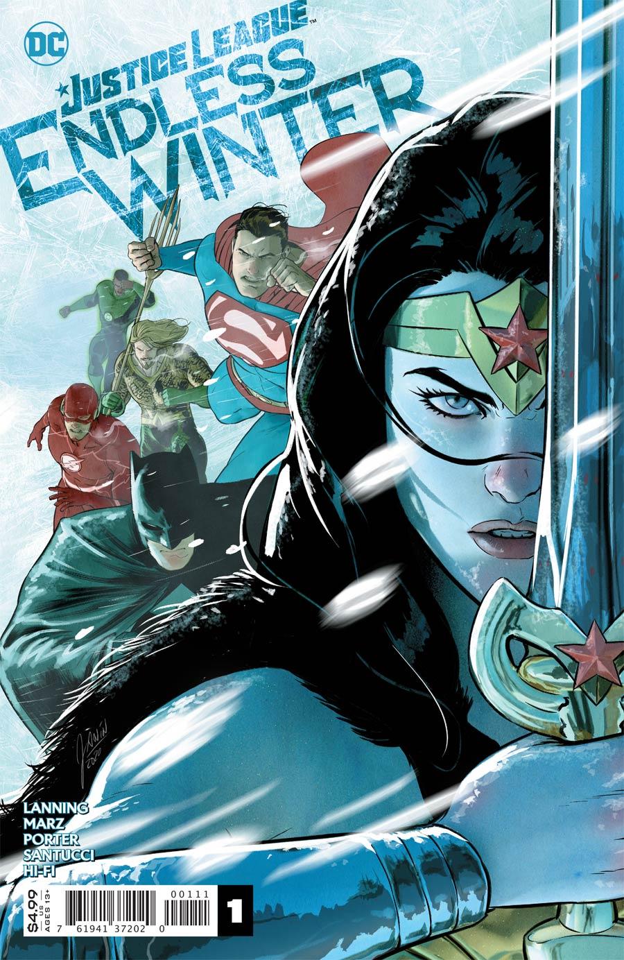 Justice League Endless Winter #1 Cover A Regular Mikel Janin (Endless Winter Part 1)
