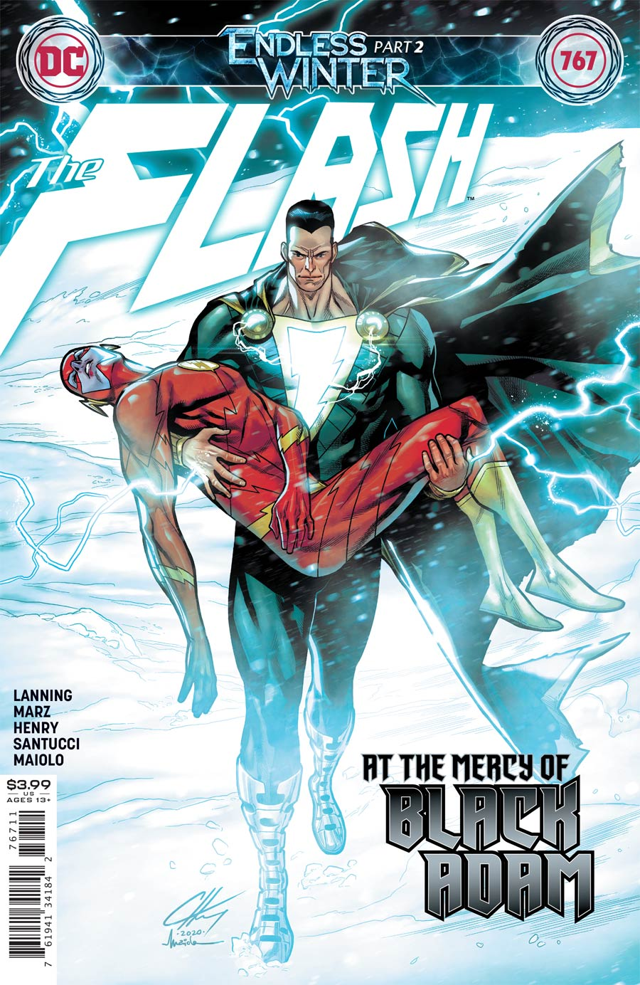 Flash Vol 5 #767 Cover A Regular Clayton Henry Cover (Endless Winter Part 2)
