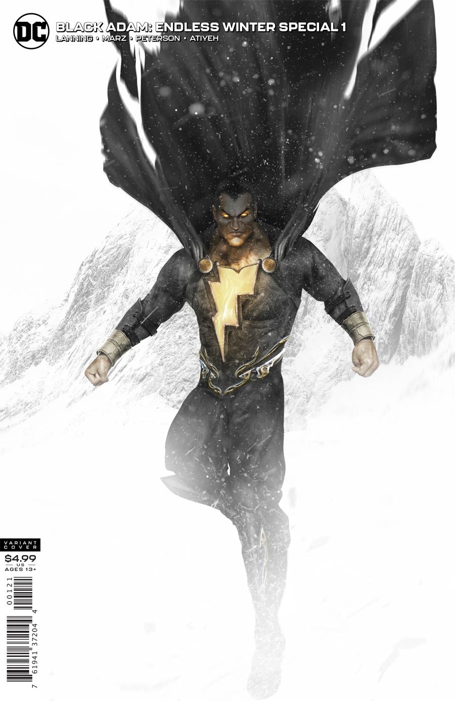 Black Adam Endless Winter Special One Shot Cover B Variant BossLogic Card Stock Cover (Endless Winter Part 8)