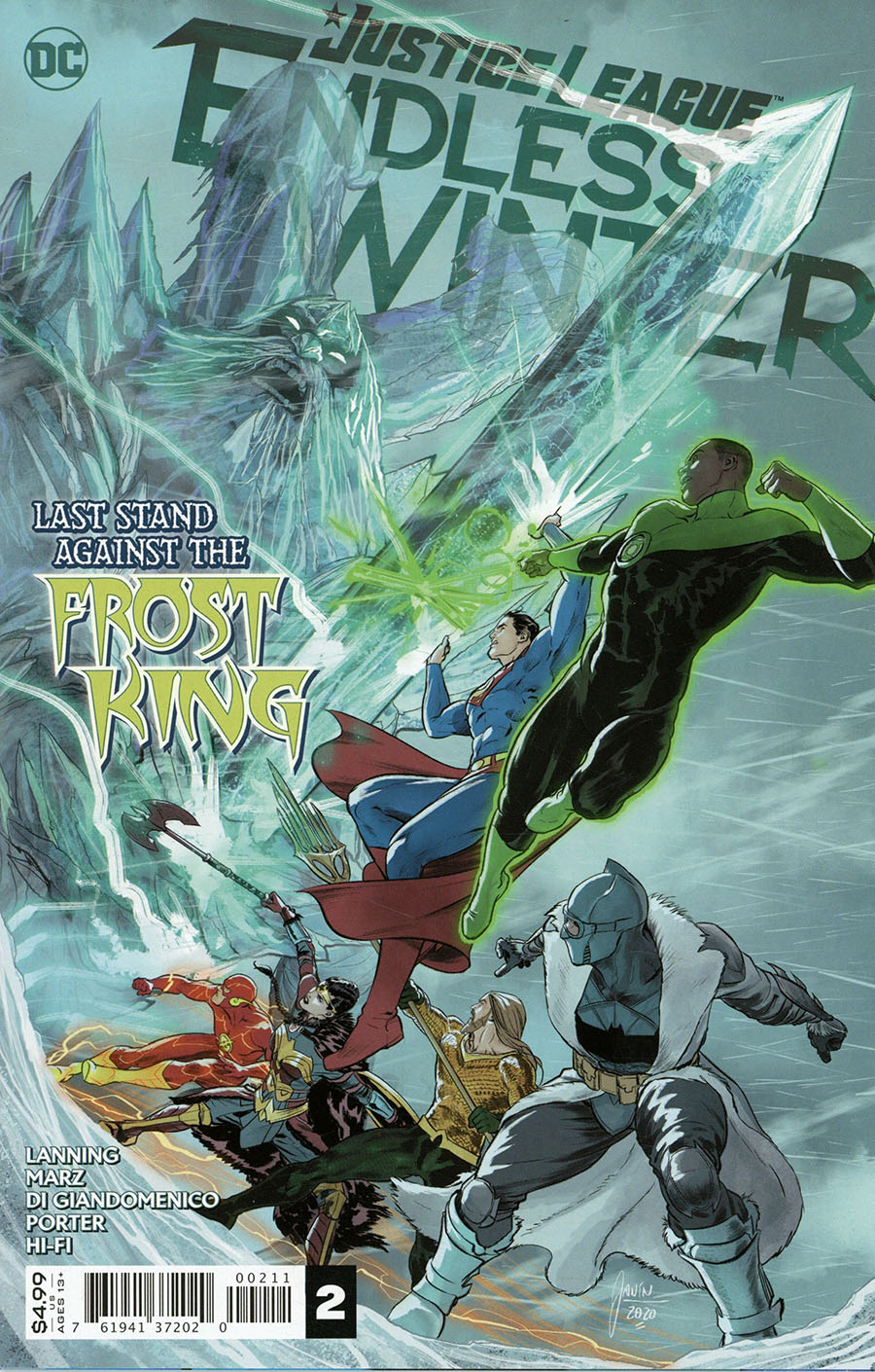 Justice League Endless Winter #2 Cover A Regular Mikel Janin Cover (Endless Winter Part 9)