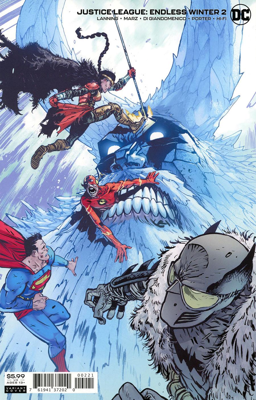 Justice League Endless Winter #2 Cover B Variant Daniel Warren Johnson Card Stock Cover (Endless Winter Part 9)