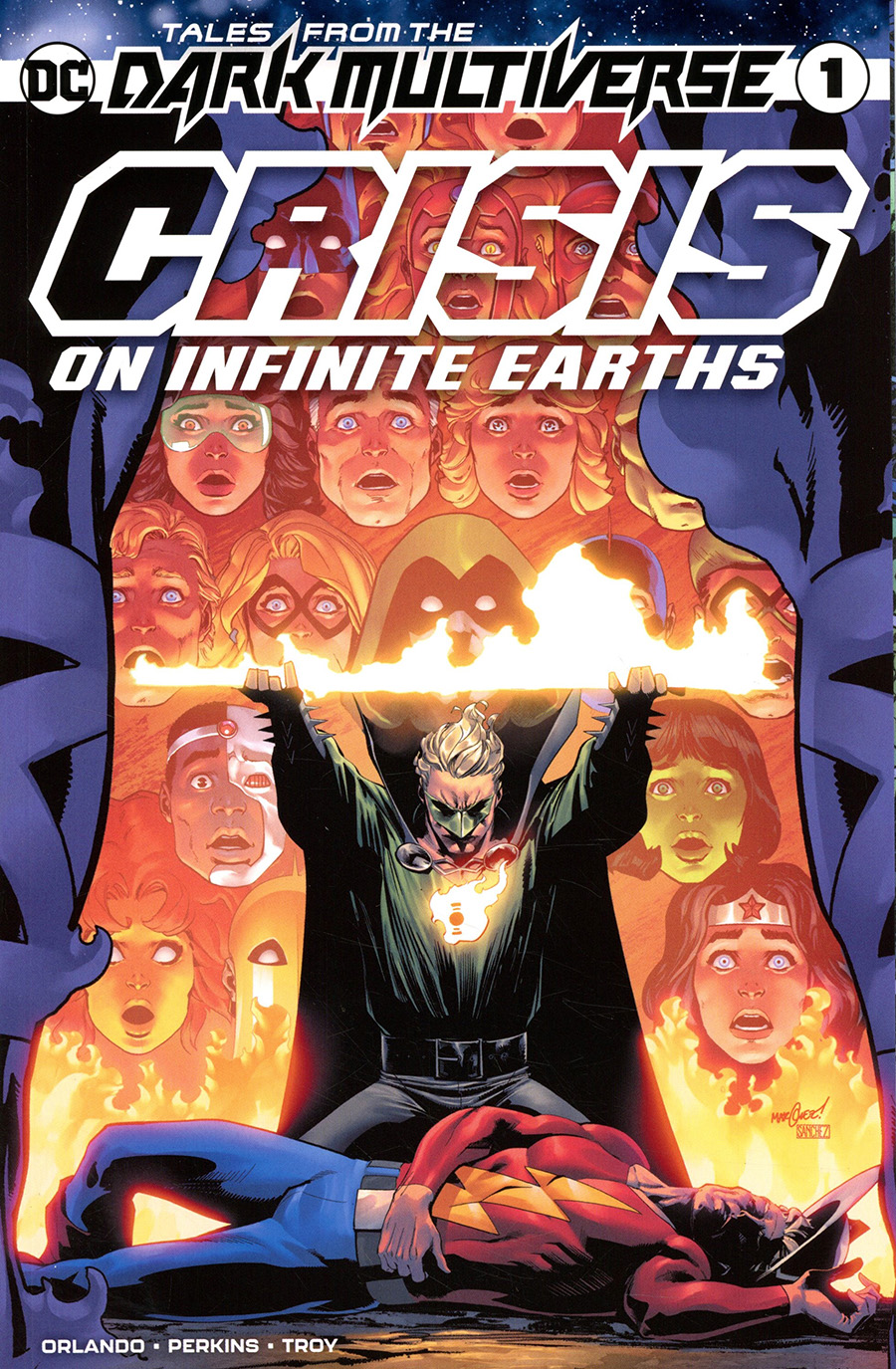 Tales From The Dark Multiverse Crisis On Infinite Earths One Shot Cover A Regular David Marquez Cover