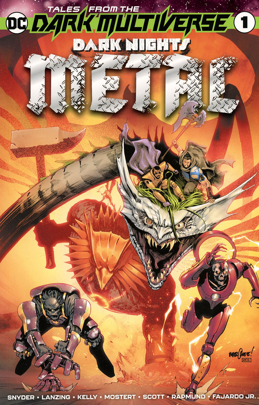 Tales From The Dark Multiverse Dark Nights Metal One Shot Cover A Regular David Marquez Cover