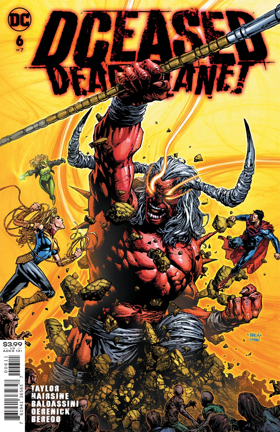 DCeased Dead Planet #6 Cover A Regular David Finch Cover