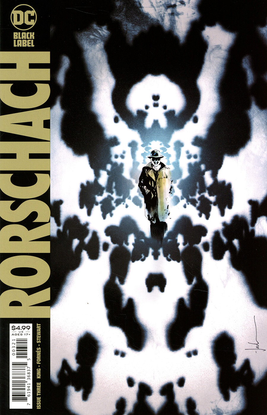 Rorschach #3 Cover B Variant Jock Cover