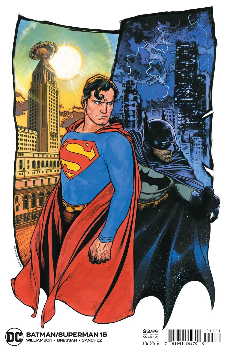 Batman Superman Vol 2 #15 Cover B Variant Travis Charest Cover