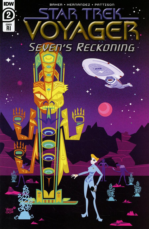 Star Trek Voyager Sevens Reckoning #2 Cover C Incentive Jeffrey Veregge Variant Cover